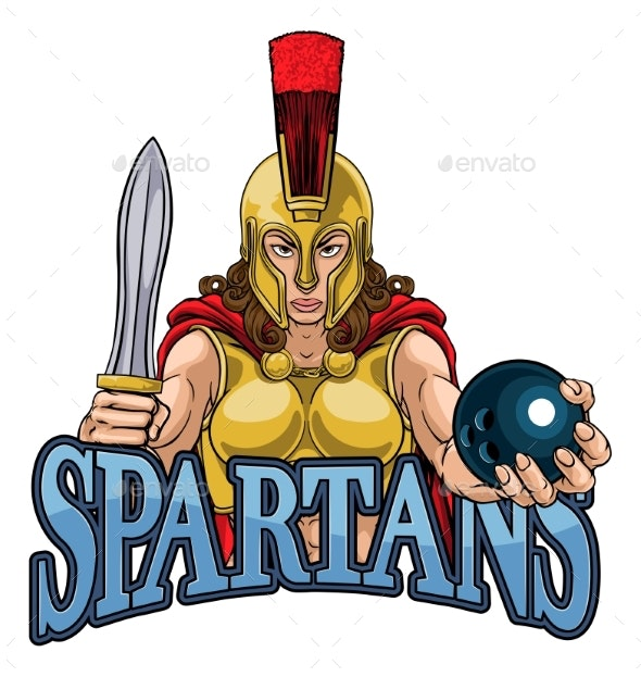 Spartan Trojan Gladiator Bowling Warrior Woman - People Characters