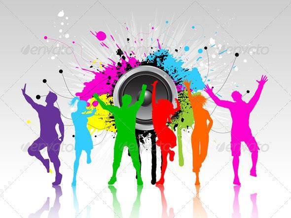 Grunge Party Background - Backgrounds Decorative