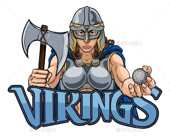 Viking Trojan Celtic Knight Golf Warrior Woman - People Characters