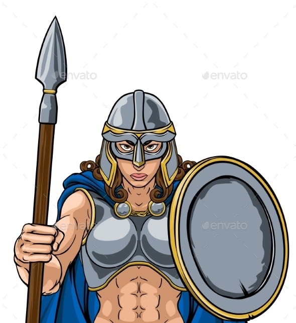 Viking Trojan Spartan Celtic Warrior Knight Woman - People Characters