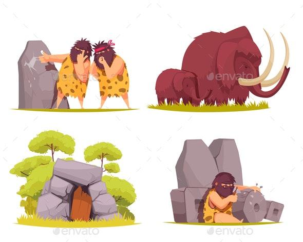 Caveman 2x2 Design Concept - Miscellaneous Vectors