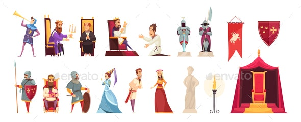 Castle Flat Set - People Characters
