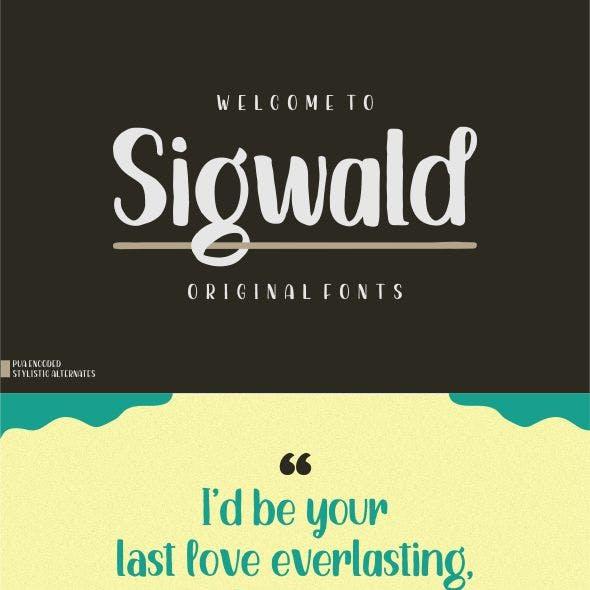 Sigwald - Handdrawn Fonts