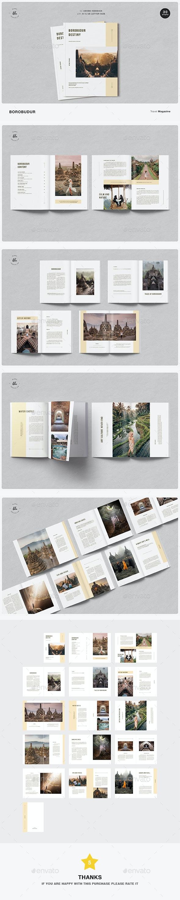 Borobudur Travel Magazine - Magazines Print Templates