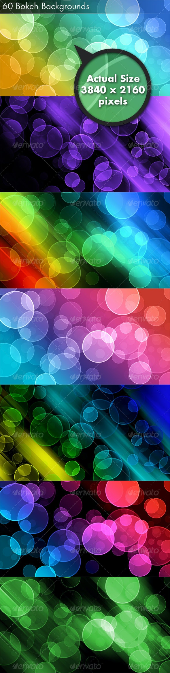 60 Bokeh Abstracts - Backgrounds Graphics