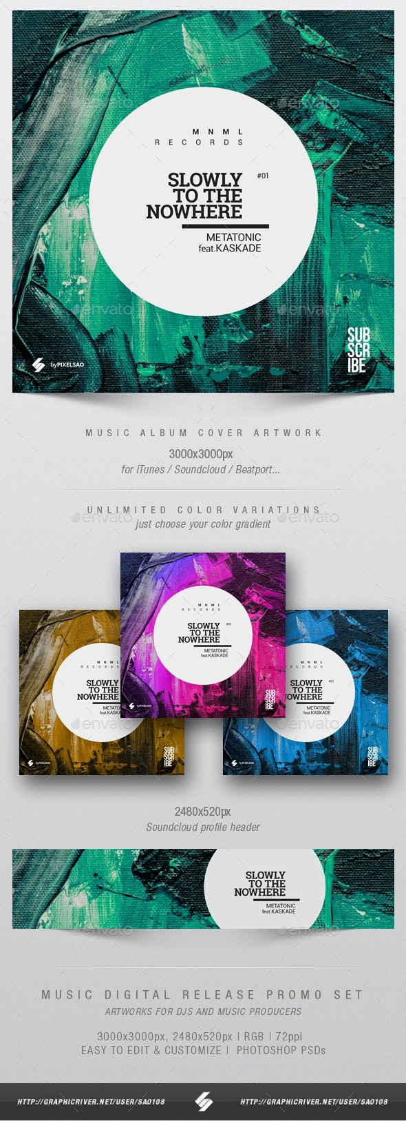 Slowly To Nowhere - Music Album Cover Artwork Template - Miscellaneous Social Media
