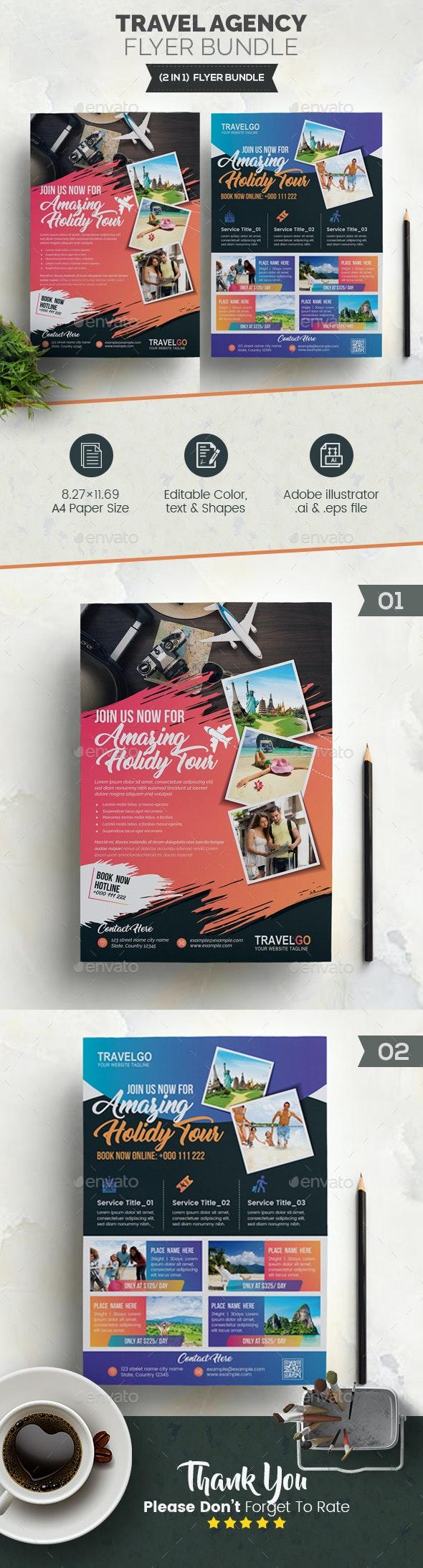 Travel Agency Flyer Bundle 2 in 1 - Corporate Flyers