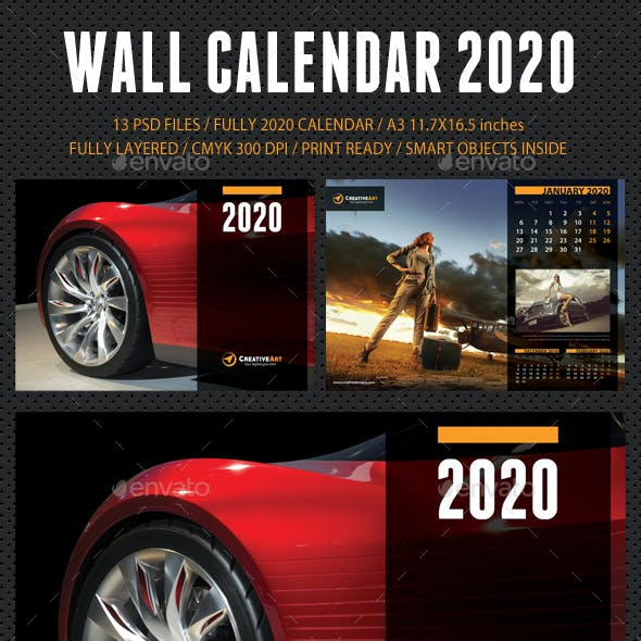 Best Calendars 2020 Calendar 2020 Graphics, Designs & Templates from GraphicRiver