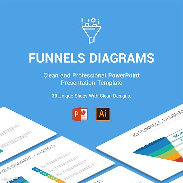 Funnels Diagrams PowerPoint Presentation Template