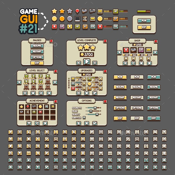 Game GUI #21 - User Interfaces Game Assets