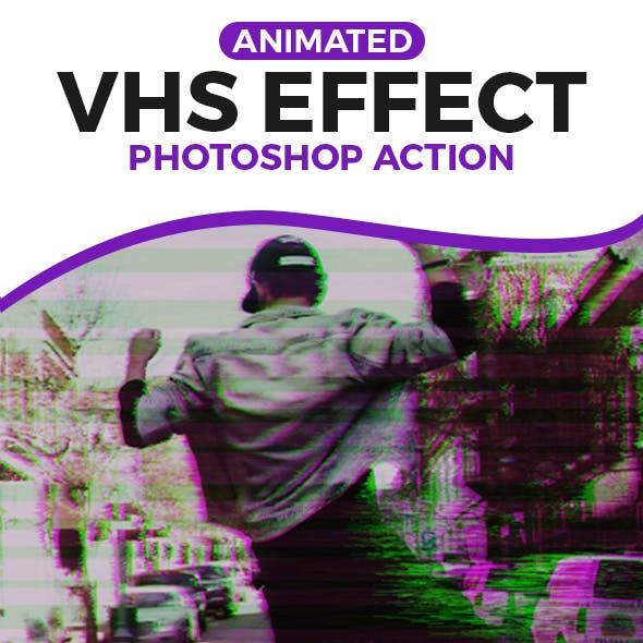 Vhs Glitch Photoshop Graphics, Designs & Templates