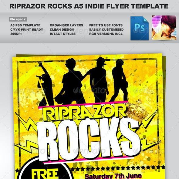 RipRazor - A5 Rock n Roll Indie Club Event Flyer