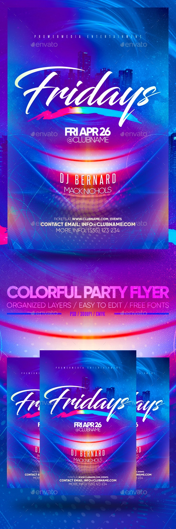 Colorful Party Flyer - Clubs & Parties Events