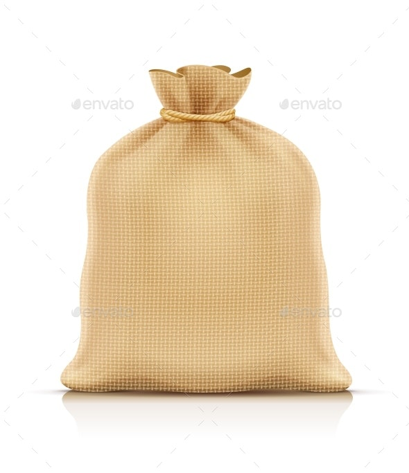 Burlap Sack for Products - Man-made Objects Objects