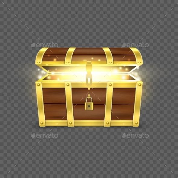 Vector Realistic Opened Treasure - Miscellaneous Vectors
