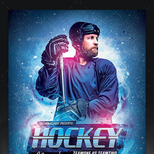 Hockey Match Flyer