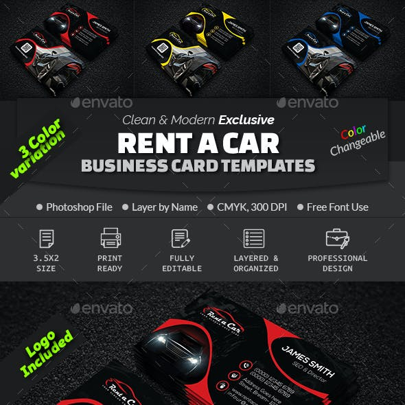 Car Business Card Graphics, Designs & Templates