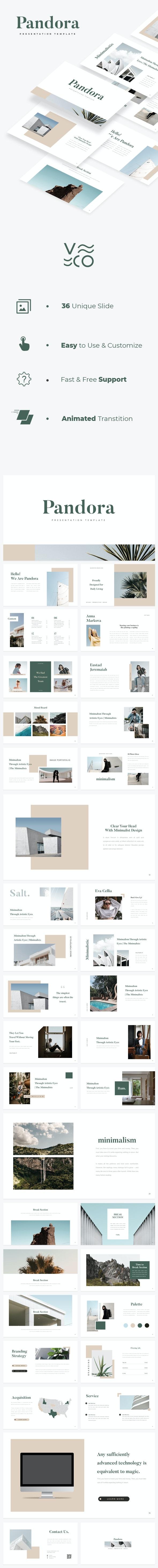 Pandora Google Slides - Google Slides Presentation Templates