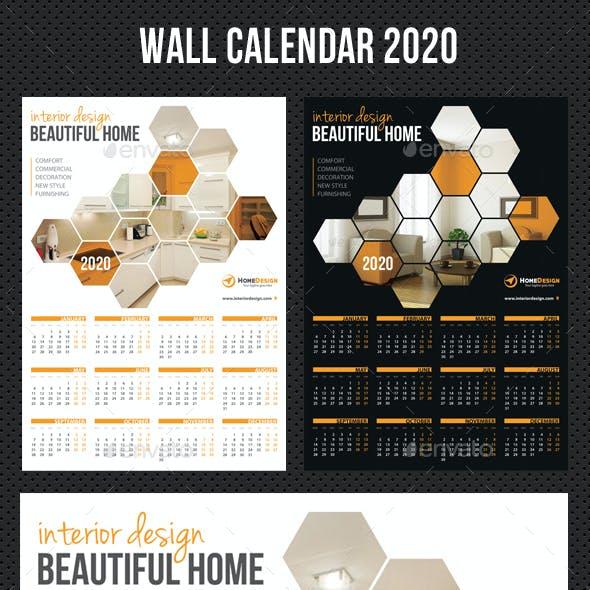 Wall Calendar 2020 V04