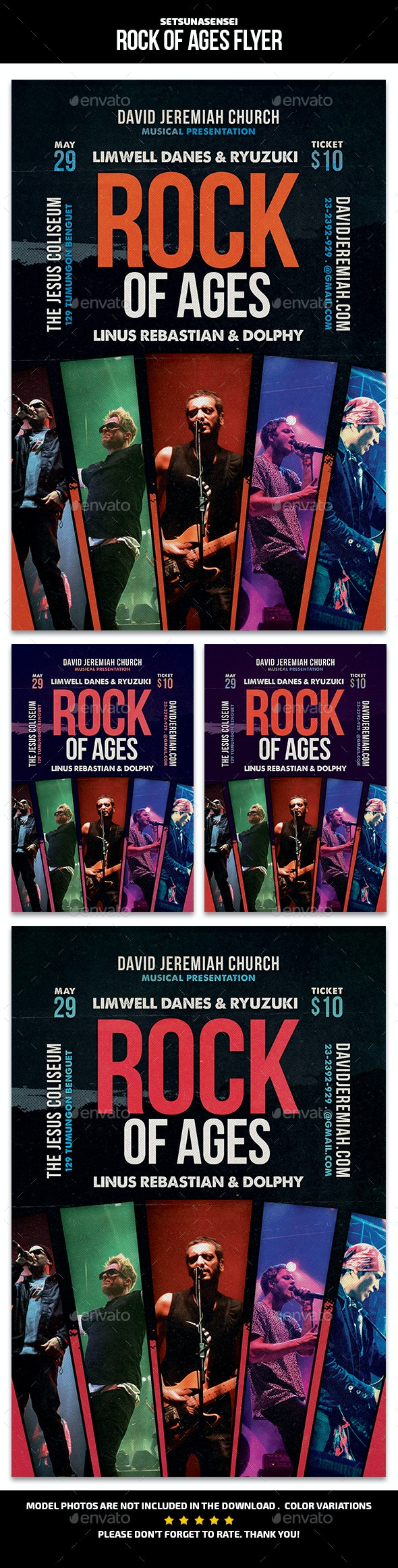 Rock of Ages Flyer - Events Flyers