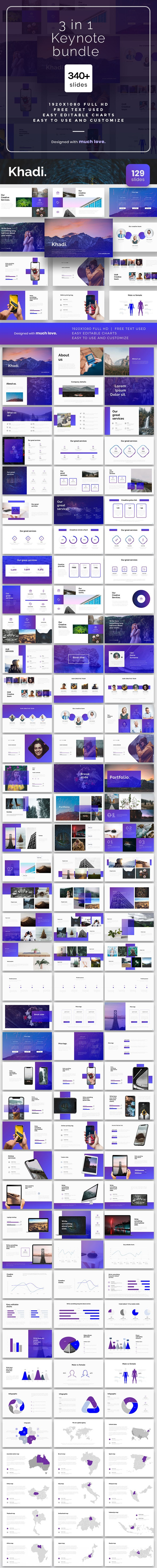 3 in1 Bundle Keynote Template - Keynote Templates Presentation Templates