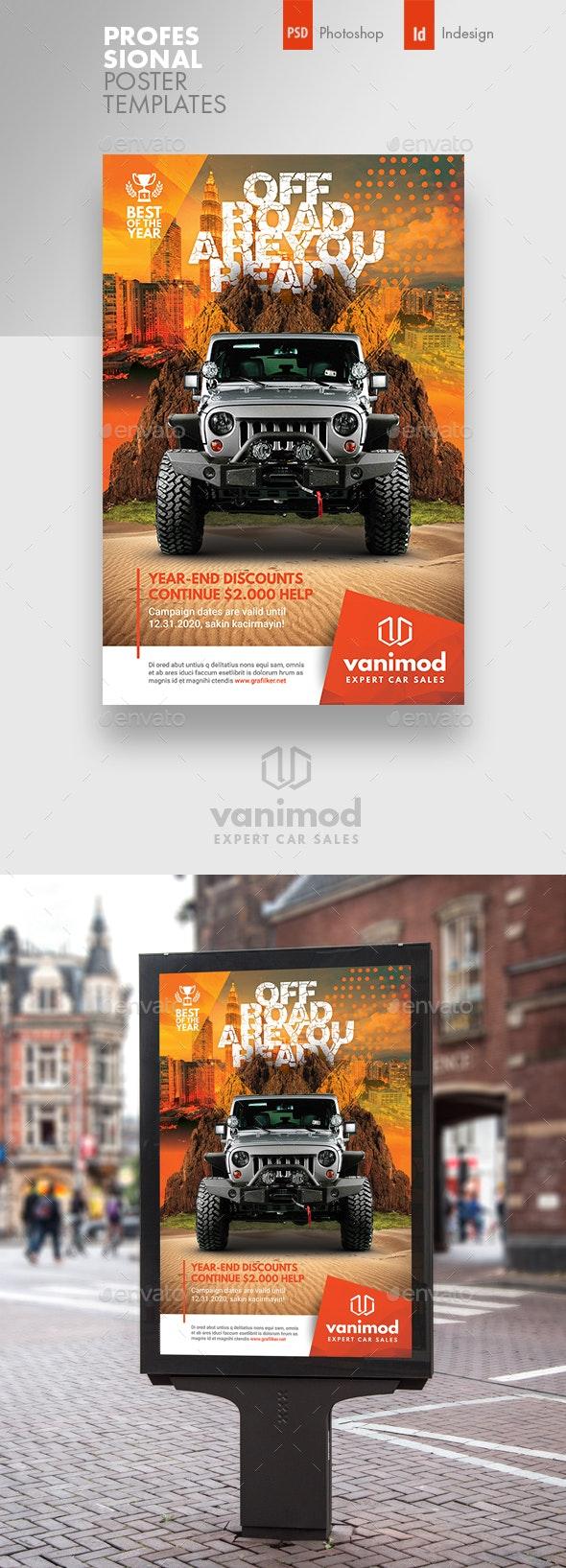 Car Sales Poster Templates - Signage Print Templates
