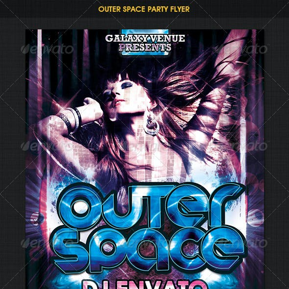 Dance Disco Party Flyer