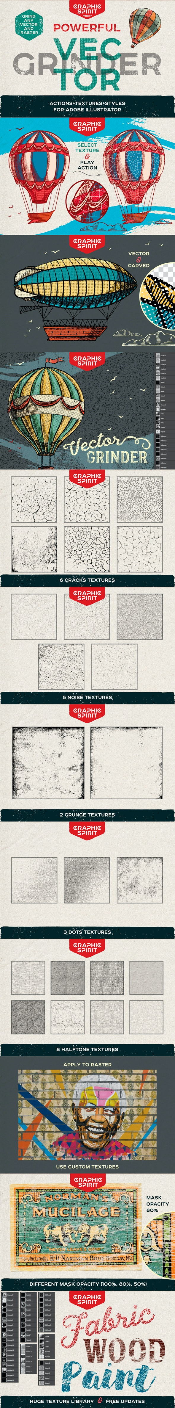 Vector Grunge Crackle Effect For Adobe Illustrator - Actions Illustrator