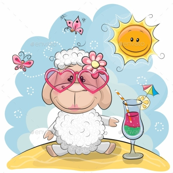 Sheep on the Beach - Animals Characters