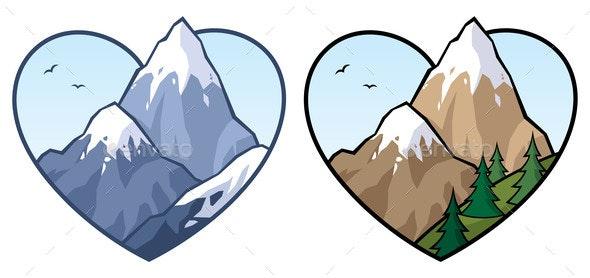 Mountain Love Sign - Miscellaneous Vectors