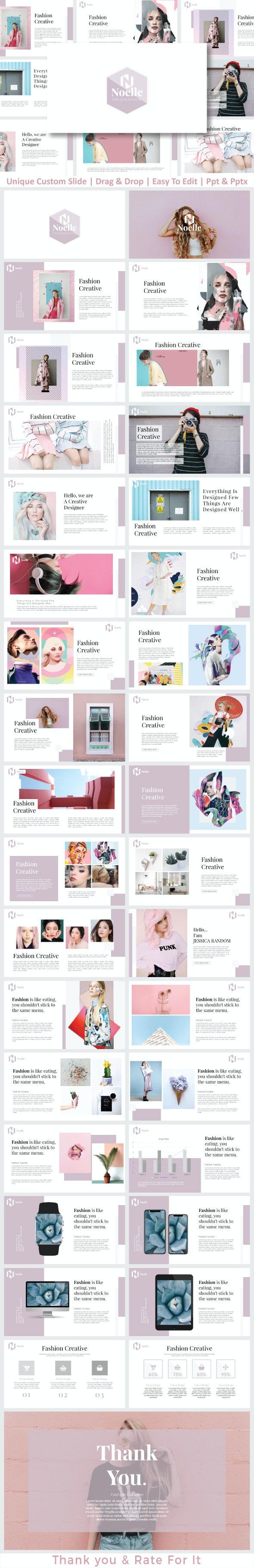 Noelle Presentation Templates - Creative PowerPoint Templates