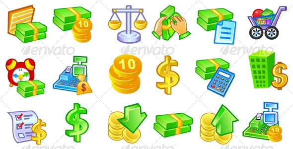 Money and Accounting Icons #1 - Business Icons