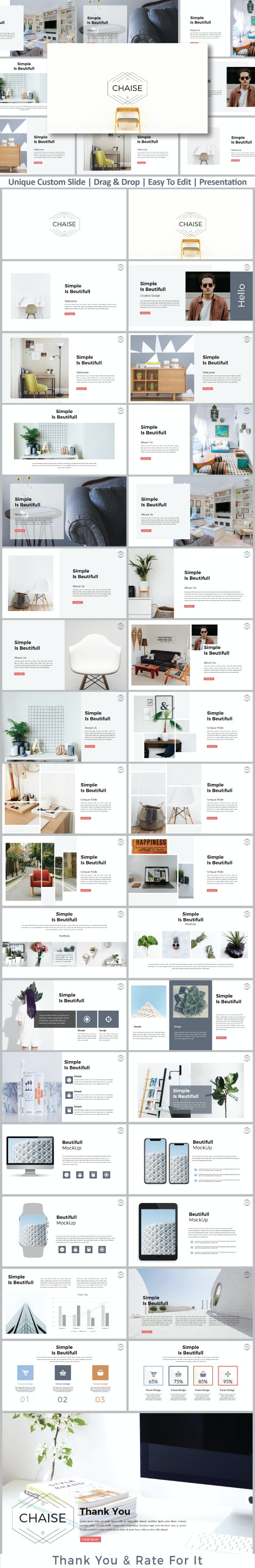 Chaise Presentation Template - Creative PowerPoint Templates