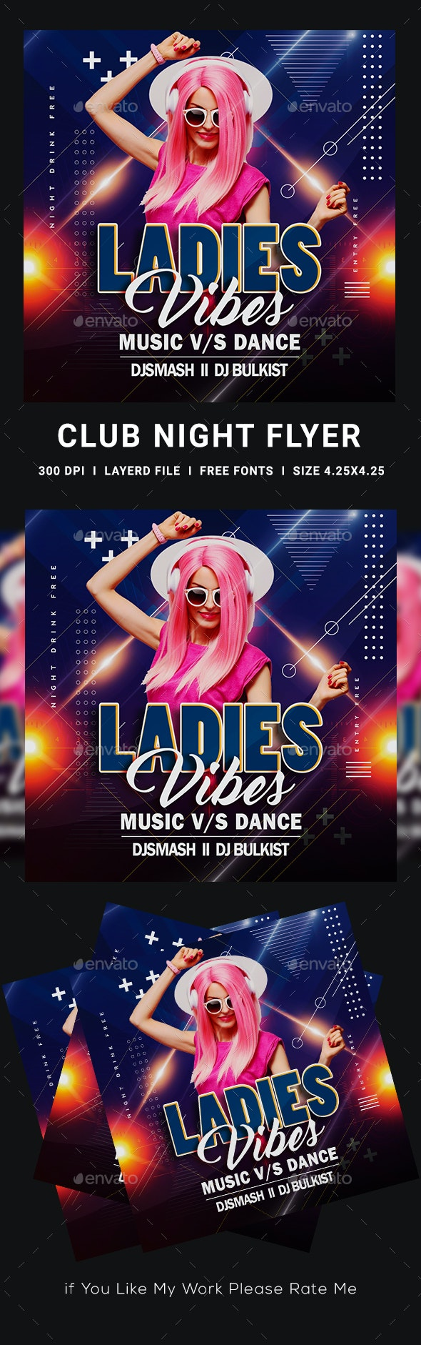 Ladies Night Flyer - Clubs & Parties Events