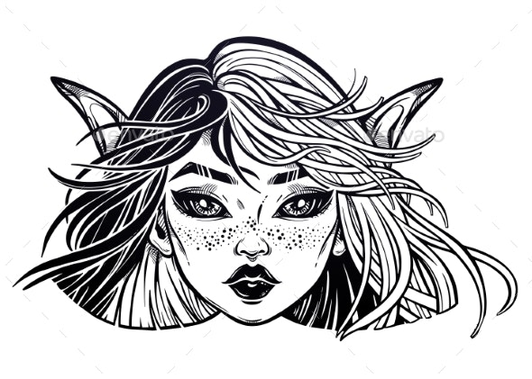 Elf Magic Woman with Long Ears - Monsters Characters