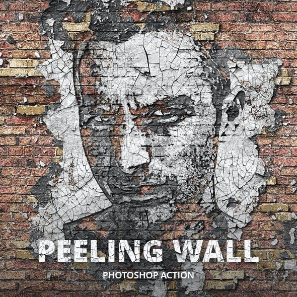 Peeling Wall Photoshop Action