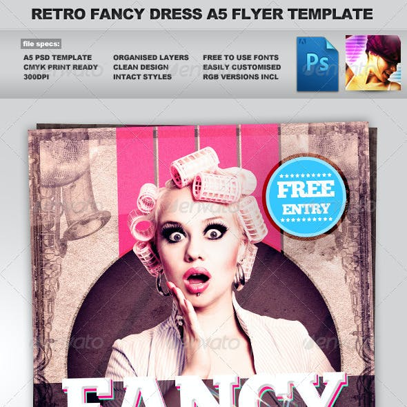 Retro Fancy Dress - Sexy & Retro A5 Flyer Template