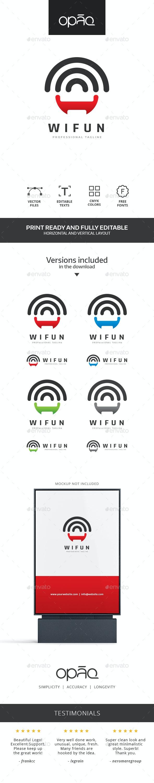 WiFi Smile logo - Symbols Logo Templates