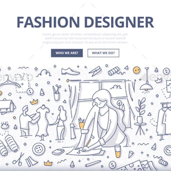 Fashion Designer Doodle Concept