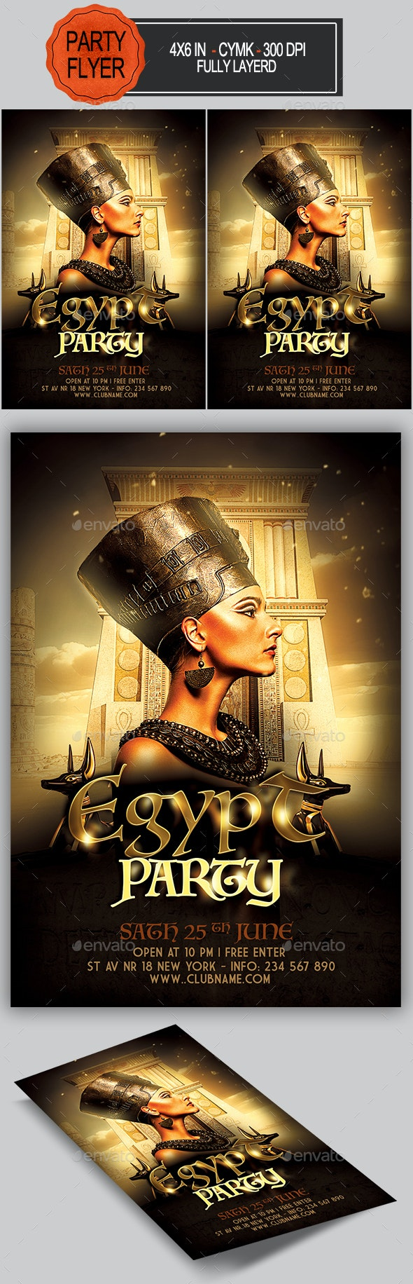 Egyptian Party Flyer - Clubs & Parties Events