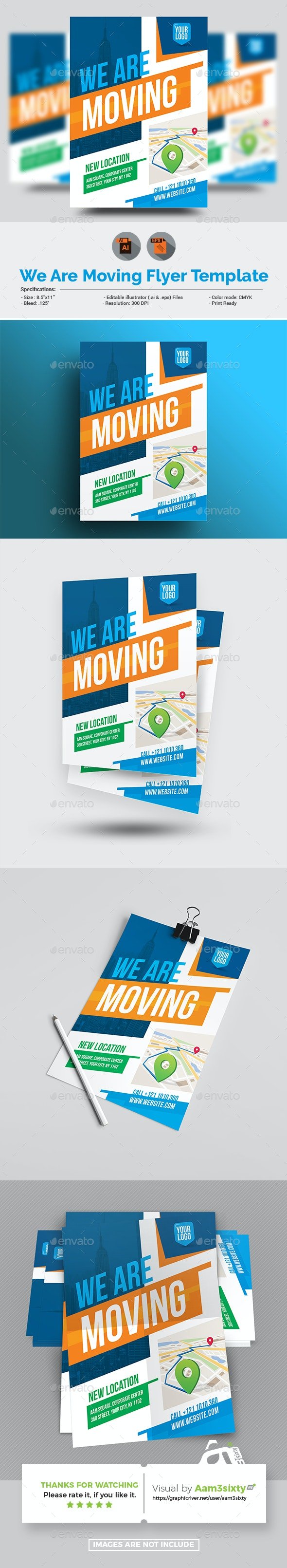 We Are Moving Flyer Template - Corporate Brochures