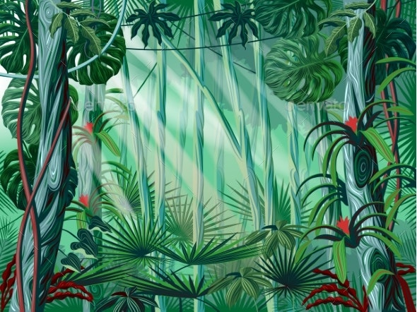 Jungle Background - Flowers & Plants Nature