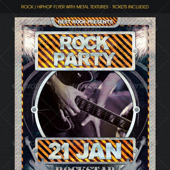 Rock / HipHop flyer w/ Tickets