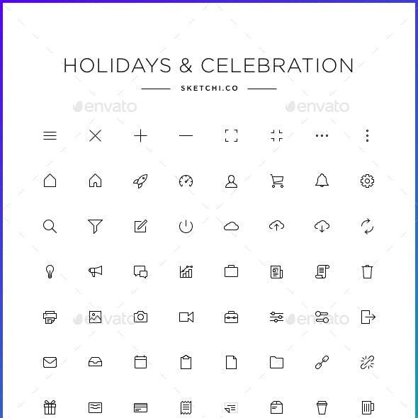 Holiday & Celebration Icons