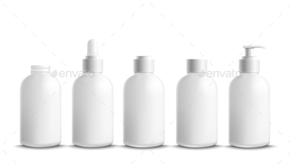 Bottles and Containers for Cream and Body Lotion - Man-made Objects Objects