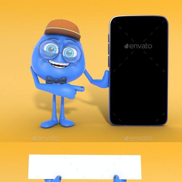 Cute Cartoon 3D Character Mascot Renders PSD