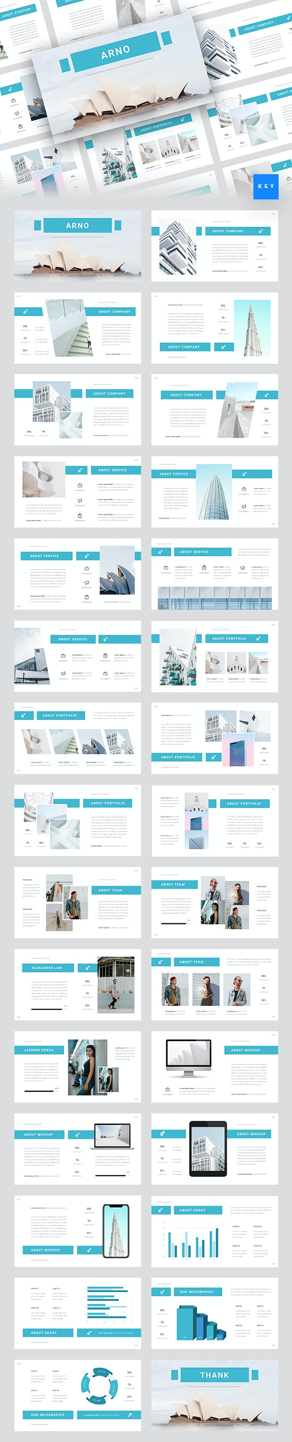 Arno - Architecture Keynote Template - Business Keynote Templates