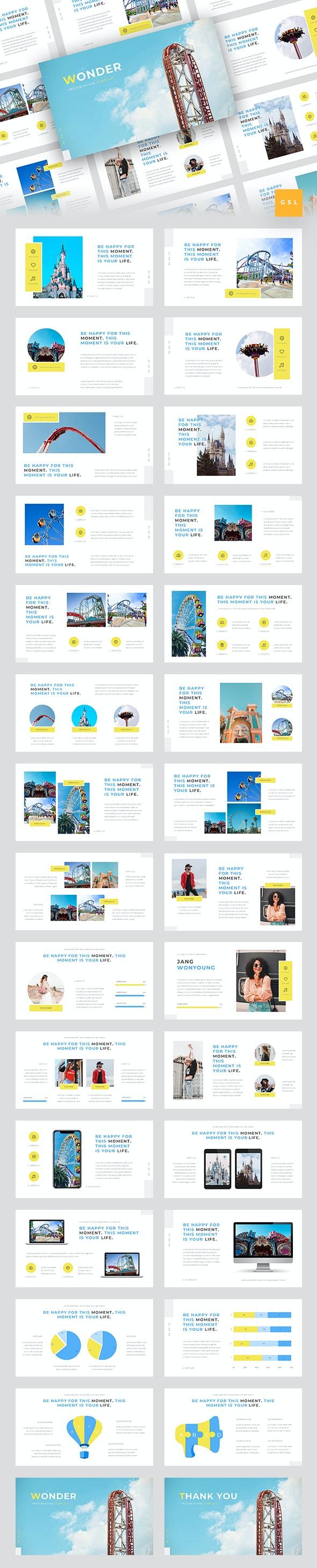 Wonder - Theme Park Google Slides Template - Google Slides Presentation Templates