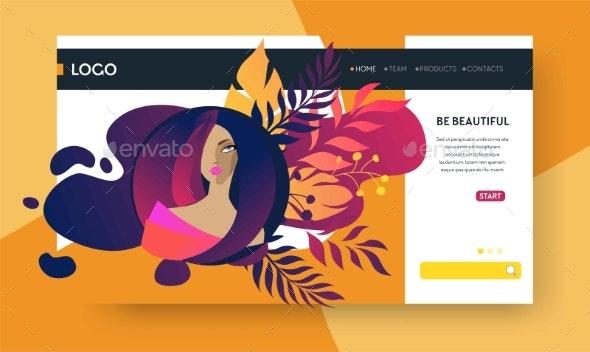 Web Page Design Templates for Beauty, Spa - Miscellaneous Vectors