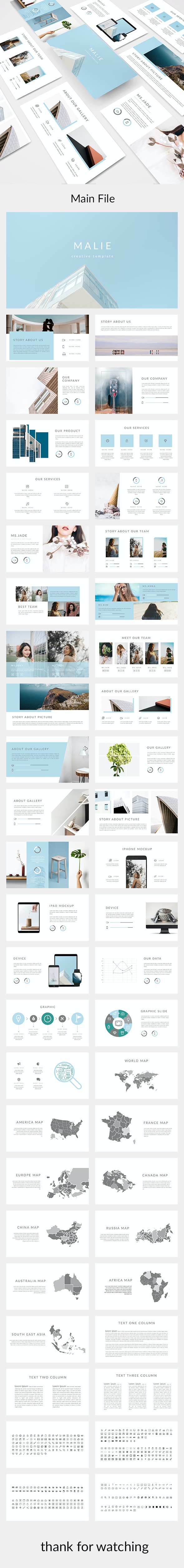 Malie - Creative Powerpoint Template - Creative PowerPoint Templates